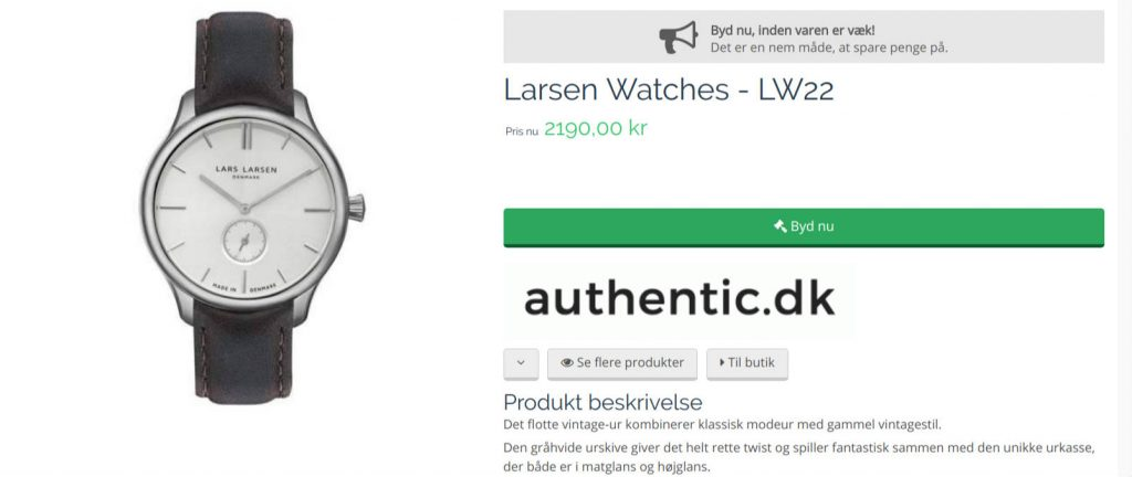 Byd på armbåndsur på bidsii.dk
